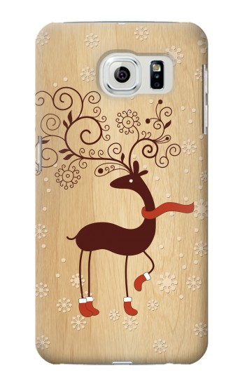 Printed Wooden Raindeer Samsung Galaxy S6 edge Case