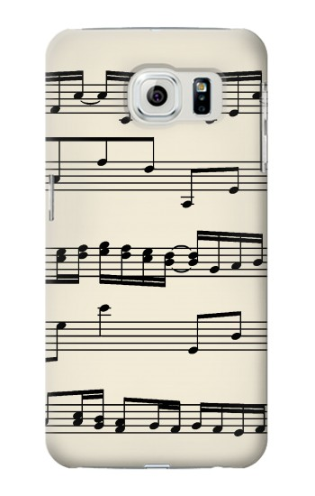 Printed Music Sheet Samsung Galaxy S6 edge Case