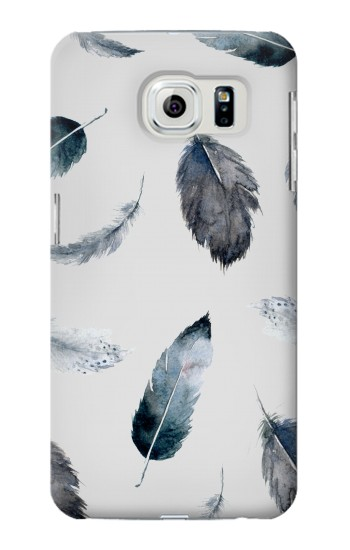 Printed Feather Paint Pattern Samsung Galaxy S6 edge Case