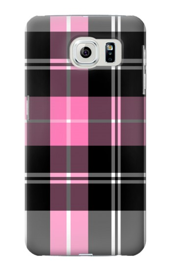Printed Pink Plaid Pattern Samsung Galaxy S6 edge Case