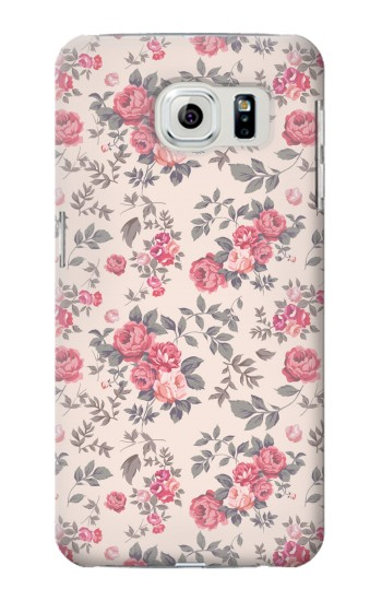 Printed Vintage Rose Pattern Samsung Galaxy S6 edge Case