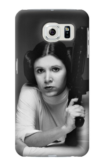 Printed Princess Leia Carrie Fisher Samsung Galaxy S6 edge Case