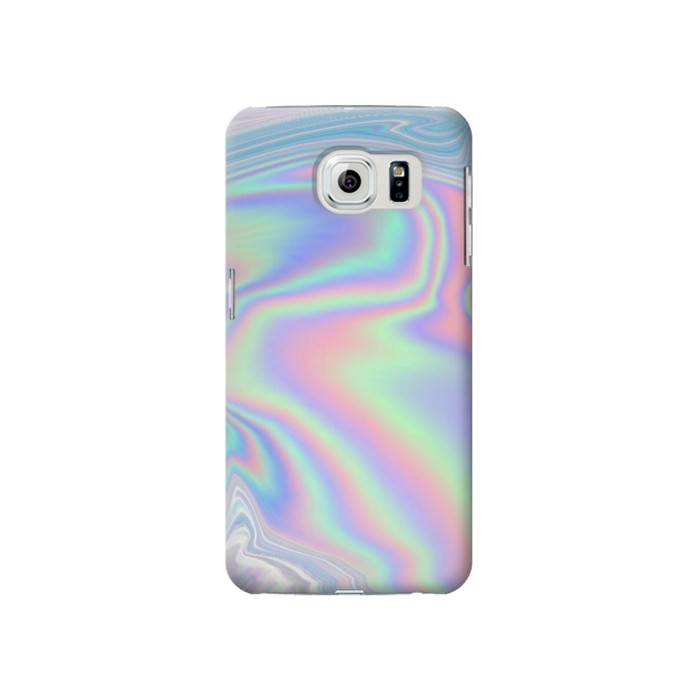 Printed Pastel Holographic Photo Printed Samsung Galaxy S6 edge Case
