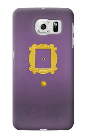 Printed Friends Purple Door Minimalist Samsung Galaxy S6 edge Case