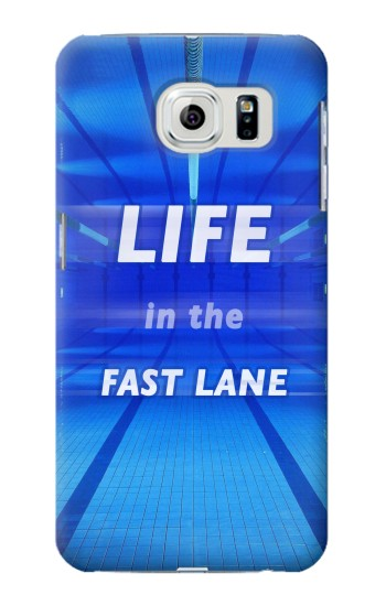 Printed Life in the Fast Lane Swimming Pool Samsung Galaxy S6 edge Case