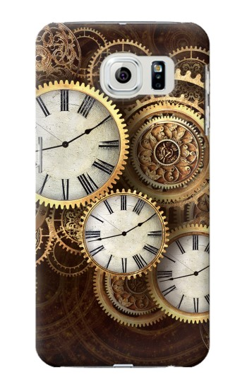 Printed Gold Clock Live Samsung Galaxy S6 edge Case
