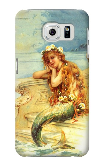 Printed Little Mermaid Painting Samsung Galaxy S6 edge Case
