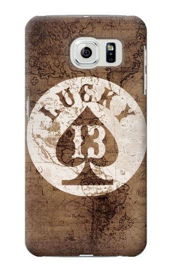 Printed Lucky 13 Old Map Samsung Galaxy S6 edge Case