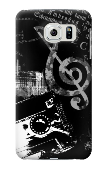 Printed Music Cassette Note Samsung Galaxy S6 edge Case