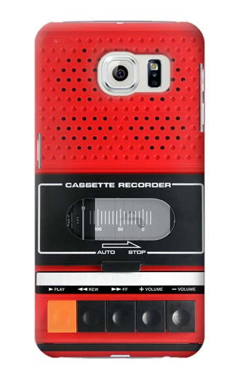 Printed Red Cassette Recorder Graphic Samsung Galaxy S6 edge Case