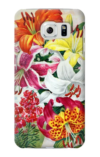 Printed Retro Art Flowers Samsung Galaxy S6 edge Case