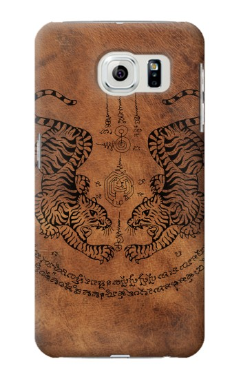 Printed Sak Yant Twin Tiger Samsung Galaxy S6 edge Case