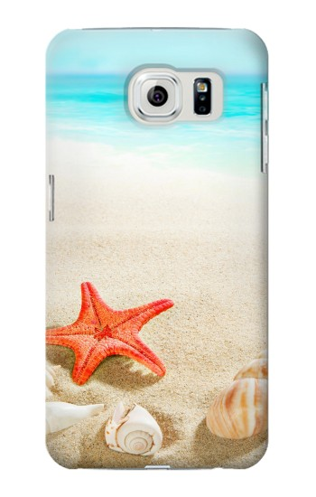 Printed Sea Shells Starfish Beach Samsung Galaxy S6 edge Case