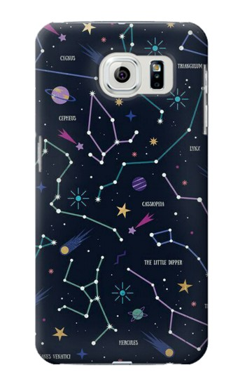 Printed Star Map Zodiac Constellations Samsung Galaxy S6 edge Case
