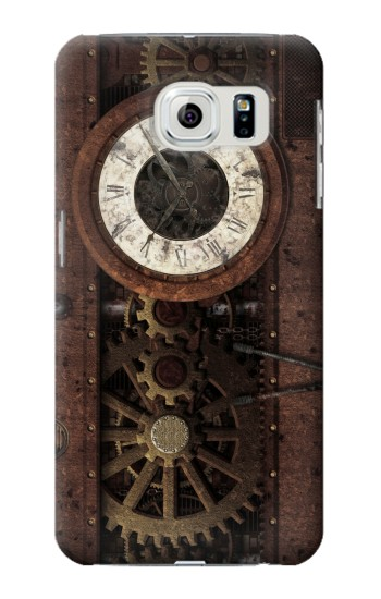 Printed Steampunk Clock Gears Samsung Galaxy S6 edge Case