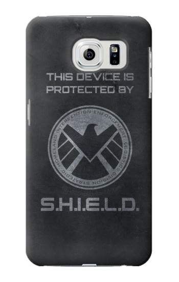 Printed This Device is Protected by Shield Samsung Galaxy S6 edge Case