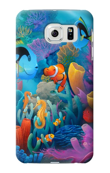 Printed Underwater World Cartoon Samsung Galaxy S6 edge Case