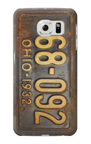 Printed Vintage Car License Plate Samsung Galaxy S6 edge Case