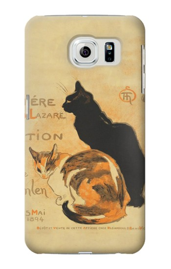 Printed Vintage Cat Poster Samsung Galaxy S6 edge Case
