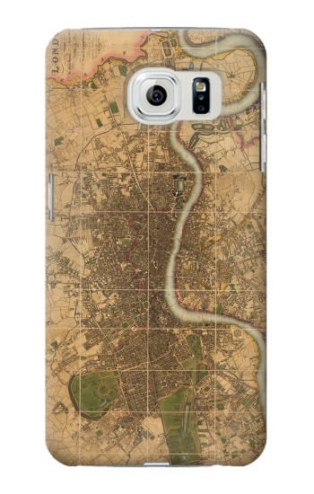 Printed Vintage Map of London Samsung Galaxy S6 edge Case