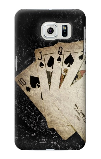 Printed Vintage Royal Straight Flush Cards Samsung Galaxy S6 edge Case