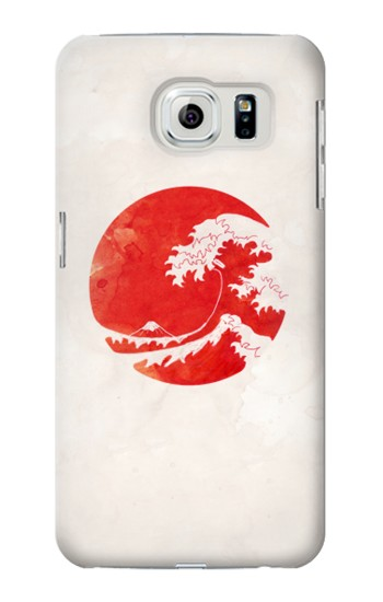 Printed Waves Japan Flag Samsung Galaxy S6 edge Case