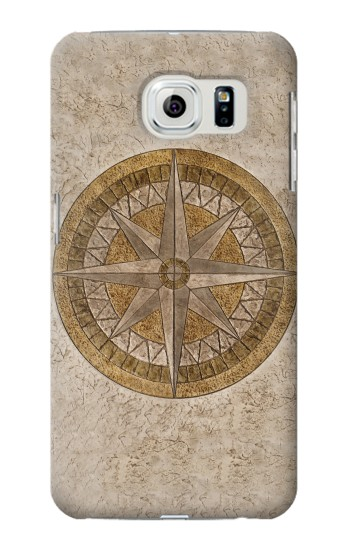Printed Windrose Circle Stamp Samsung Galaxy S6 edge Case