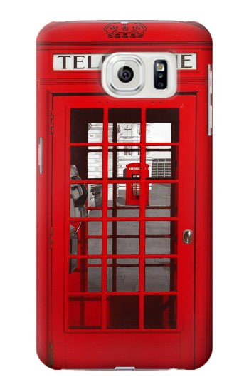 Printed Classic British Red Telephone Box Samsung Galaxy S7 edge Case