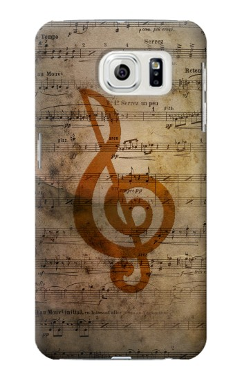 Printed Sheet Music Notes Samsung Galaxy S7 edge Case