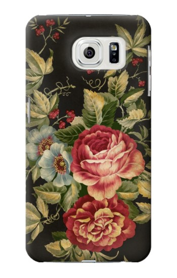 Printed Vintage Antique Roses Samsung Galaxy S7 edge Case