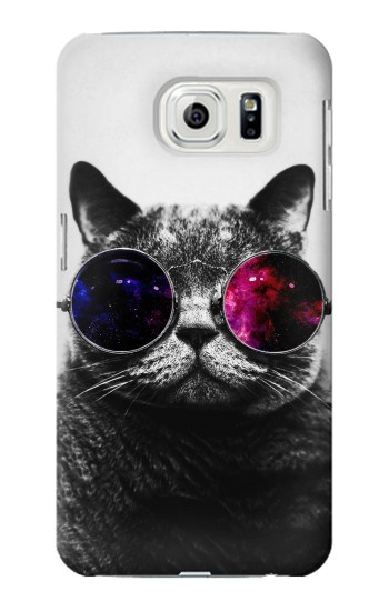 Printed Cool Cat Glasses Samsung Galaxy S7 edge Case