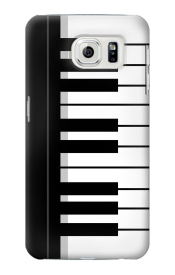 Printed Black and White Piano Keyboard Samsung Galaxy S7 edge Case