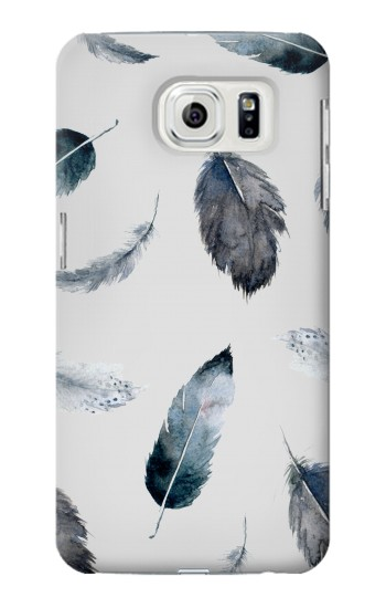 Printed Feather Paint Pattern Samsung Galaxy S7 edge Case