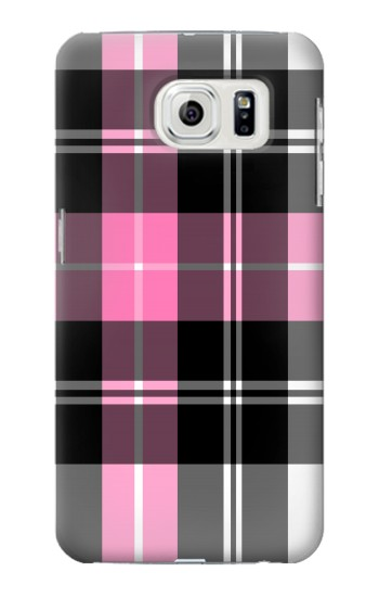 Printed Pink Plaid Pattern Samsung Galaxy S7 edge Case