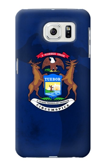 Printed State of Michigan Flag Samsung Galaxy S7 edge Case