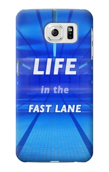 Printed Life in the Fast Lane Swimming Pool Samsung Galaxy S7 edge Case