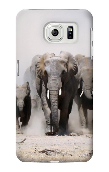 Printed African Elephant Samsung Galaxy S7 edge Case