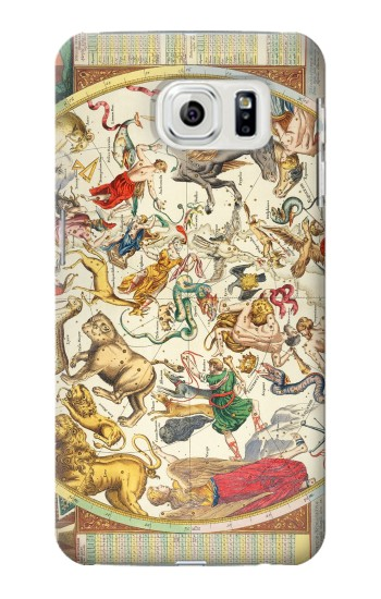 Printed Antique Constellation Map Samsung Galaxy S7 edge Case