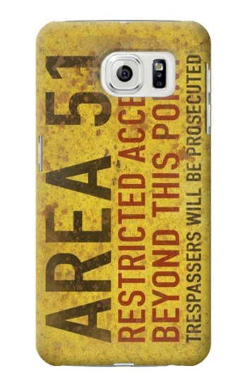 Printed Area 51 Restricted Access Warning Sign Samsung Galaxy S7 edge Case