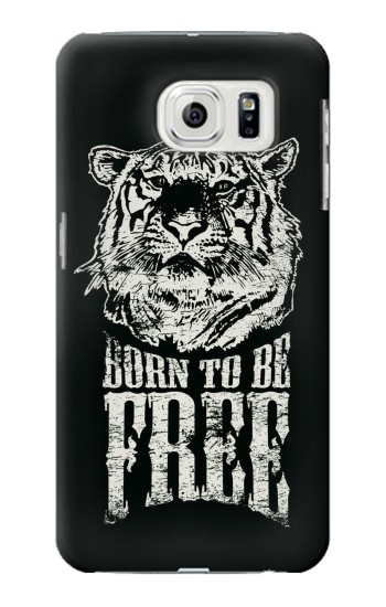Printed Born to Be Free Tiger Samsung Galaxy S7 edge Case