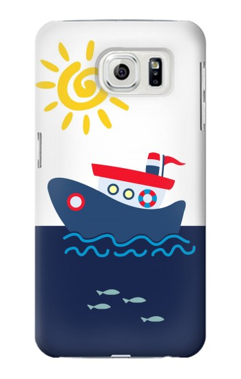 Printed Cartoon Fishing Boat Samsung Galaxy S7 edge Case