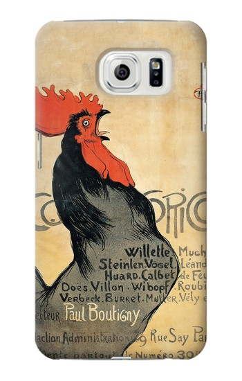 Printed Cocorico Rooster Vintage French Poster Samsung Galaxy S7 edge Case