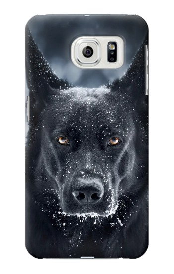 Printed German Shepherd Black Dog Samsung Galaxy S7 edge Case