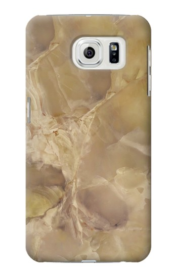 Printed Yellow Marble Stone Samsung Galaxy S7 edge Case