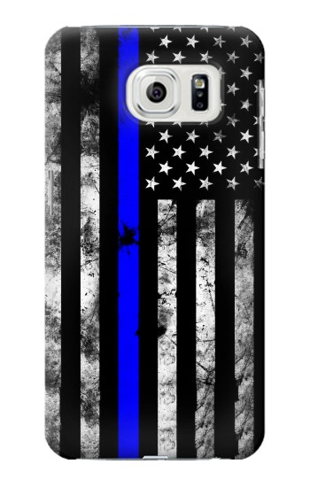 Printed Thin Blue Line USA Samsung Galaxy S7 edge Case