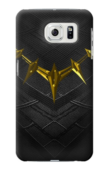 Printed Black Panther Inspired Costume Gold Necklace Samsung Galaxy S7 edge Case