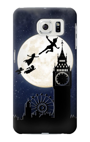 Printed Peter Pan Fly Fullmoon Night Samsung Galaxy S7 edge Case