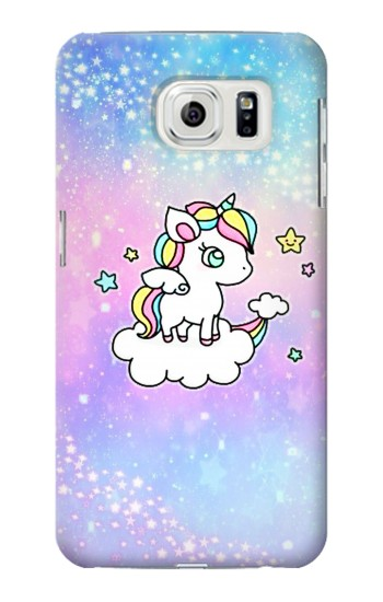 Printed Cute Unicorn Cartoon Samsung Galaxy S7 edge Case