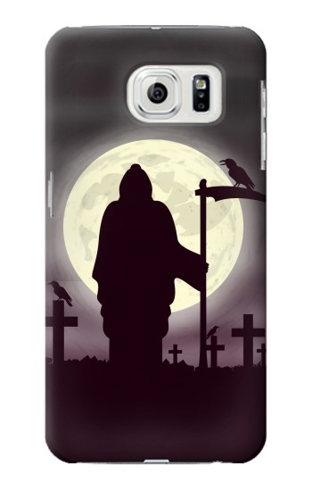 Printed Night Moon Cemetery Samsung Galaxy S7 edge Case