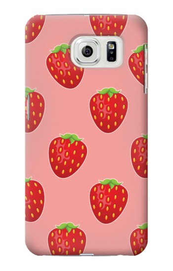 Printed Strawberry Fruit Pattern Samsung Galaxy S7 edge Case